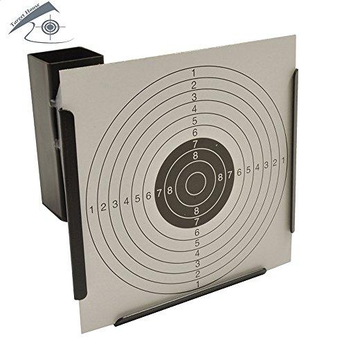 17 * 17cm(6.7 * 6.7 `)漏斗形状のペレットトラップの狩猟ターゲット20個の紙をターゲットとした空気ライフルのペレットトラップの商品画像