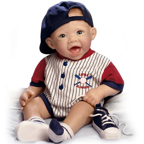 Bonnie Chyle Michael The Little Slugger So Truly Real Lifelike Baby Doll by Ashton Drake by The Ashton-Drake Galleries