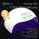 72W 36W Dual Cure LED UV Gel Nail Lamp for Both Hands /feet