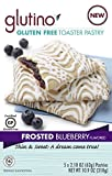 Glutino Frosted Bluberry Toaster Pastries (Pack of 6)