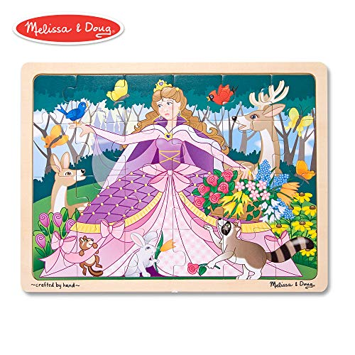 Melissa & Doug Woodland Fairy Princess Wooden Jigsaw Puzzle With Storage Tray (24 pcs) ()