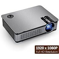 AUN Full HD LED Projector AKEY5, 1920x1080P Resolution, 3800 Luminous Efficiency, Built in Speaker. Multimedia System Video Projector for Home Theater. Support HDMI/VGA/AV/USB Port
