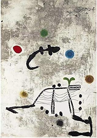 WSTDSM Póster Artístico Impreso De Joan Miro Personatge, Lienzo para Decoración del Hogar, Arte De Pared, 24X32 En Sin Marco