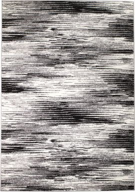 Rio 2V-NHIU-AY47 Summit 305 Grey Black Area Rug Modern Abstract Many Sizes Available , DOOR MAT 22 inch x 35 inch