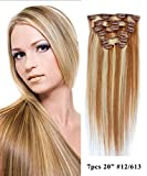 Mike & Mary 100% Remy Human Hair Clip in Extensions 20