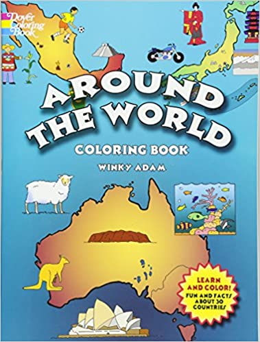 Around the World Coloring Book (Dover History Coloring Book): Winky ...