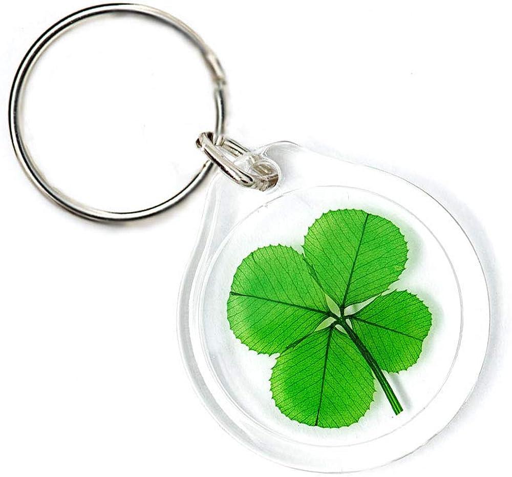 Lucky Charm Keychain Four Leaf Clover