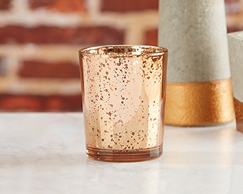 Mercury Glass Tea Light Holders (112, Copper)