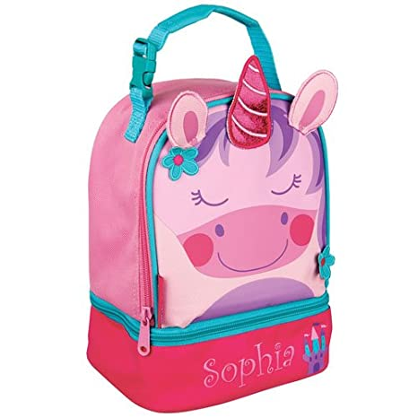6c3d5eb54bdb Amazon.com  GiftsForYouNow Unicorn Personalized Lunch Bag
