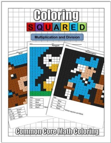 Coloring Squared Multiplication And Division Paperback 2013