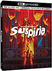 SUSPIRIA 4K UHD 2-Disc Set - Dario Argento's masterpiece receives its ultimate showcase with Synapse Films award-winning restoration! Jessica Harper (PHANTOM OF THE PARADISE, PENNIES FROM HEAVEN) stars in this frightening tale of a young stud...