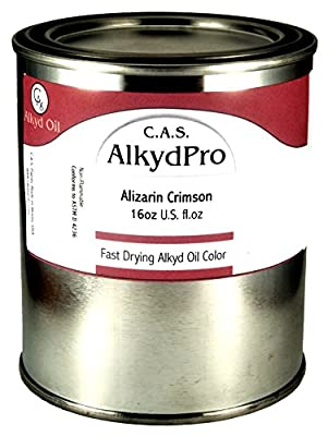 C.A.S. Paints AlkydPro Fast-Drying Oil Color Paint Can, 16-Ounce, Alizarin Crimson