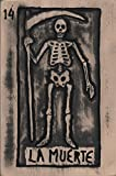 La Muerte Wooden Art, Mexican Loteria Wall Hanging, Carved Skeleton Plaque, Painted Relief Sculpture, measure: approx. 8 X 11'' . Made to Order (Allow between 1- 4 weeks for production & delivery)