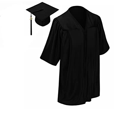 Amazon.com: lescapsgown Kids Graduation Gown Cap Tassel 2017-Neck ...