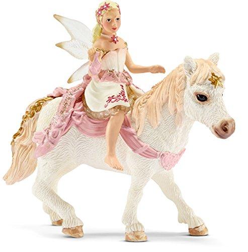 Schleich 70501 - Lilienzarte Elfe auf Pony reitend, Spielfigur