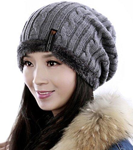 CSM Womens Wool Chunky Soft Stretch Skull (Chunky Wool Hat)