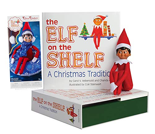 The Elf on the Shelf: Boy Elf (Brown Eyed) with Totally Tubular Snow Set
