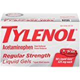 Tylenol Regular Strength Liquid Gels with 325 mg Acetaminophen, Pain Reliever & Fever Reducer, 90 ct