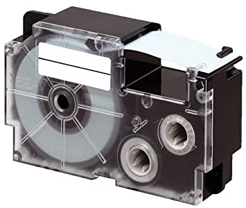 KL-750E DRUCKER SCHRIFTBAND KASSETTE 9mm WEIß-TRANSP für CASIO KL-300