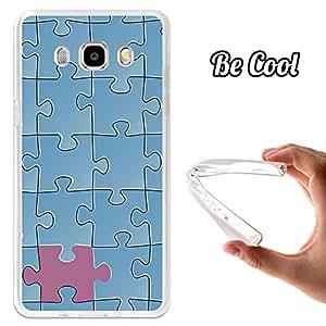 BeCool® - Funda Gel Flexible Samsung Galaxy J5 2016 Puzzle Azul Carcasa Case Silicona TPU Suave