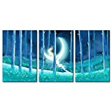 Best Modern Fantasy Hand Wraps - wall26-3 Panel Animal Canvas Wall Art - Fantasy Review