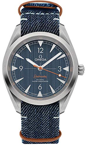 Omega Railmaster Automatic Blue Jeans Dial Men's Watch 220.12.40.20.03.001