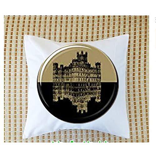 Downton Abbey Inspired Necklace Pillow Bolster.Symbol Sonogram Pillow Bolster