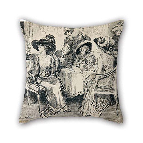 Oil Painting Charles Gibson - Her Poise, Her Unconsciousness, The Winning Simplicity Of Her Manner Were Noticed Everywhere Pillowcover Best For Relatives Valentine Dance Room Boy Friend Wife 18 X