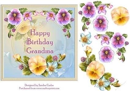 Joyeux Anniversaire Grand Mère Floral Décoration Par Sandra
