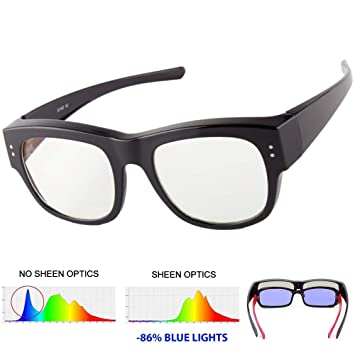 22e8b6b8a9 Anti Blue Rays Glasses Fit Over Prescription Glasses Wrap Arounds Goggles  Blue Light Blocking Reflection for