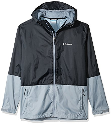 Columbia Men's Big and Tall Roan Mountain Jacket, Black/Grey Ash, 3X