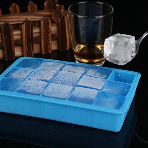 Ice Mold - 1 Piece Food Grade Silicone Gel DIY 15 Frames Big Ice Mold Ice Lattice Shape Chocolate Tray Bucket Kitchen Appliances Ice Maker