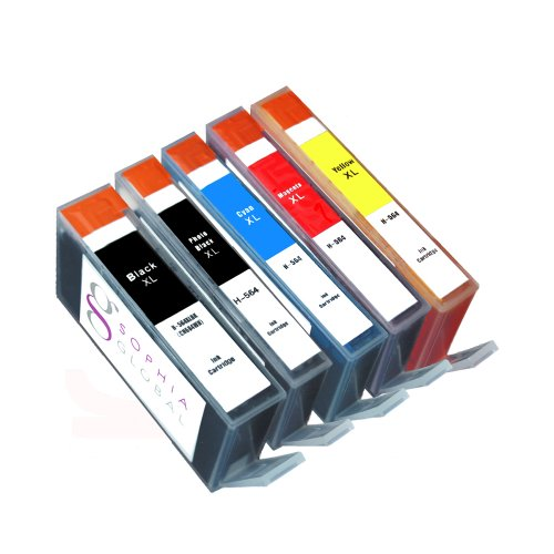 Sophia Global Compatible Ink Cartridge Replacement for HP 564XL (1 Black, 1 Photo Black, 1 Cyan, 1 Magenta, 1 Yellow)