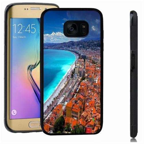 Galaxy S7 edge case, SoloShow(R) Slim Shockproof TPU Soft Case Rubber Silicone for Samsung Galaxy S7 edge [seaside city]