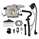Savior Carburetor Ignition Coil Tune Up Kit for Stihl Chainsaw 021 023 025 MS210 MS230 MS250 Replace Walbro WT286