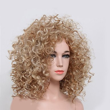 [Pengma Natural Short Curly Wigs Attractive Blonde Color Sexy Wig] (Full Bobby Light Costume)