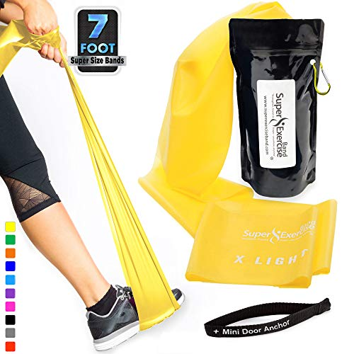Super Exercise Band X Light Yellow 7 ft. Long Resistance Ban