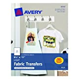Avery T-shirt Transfers for Inkjet Printers, 8.5 x 11 Inches, Pack of 18 (08938), Office Central