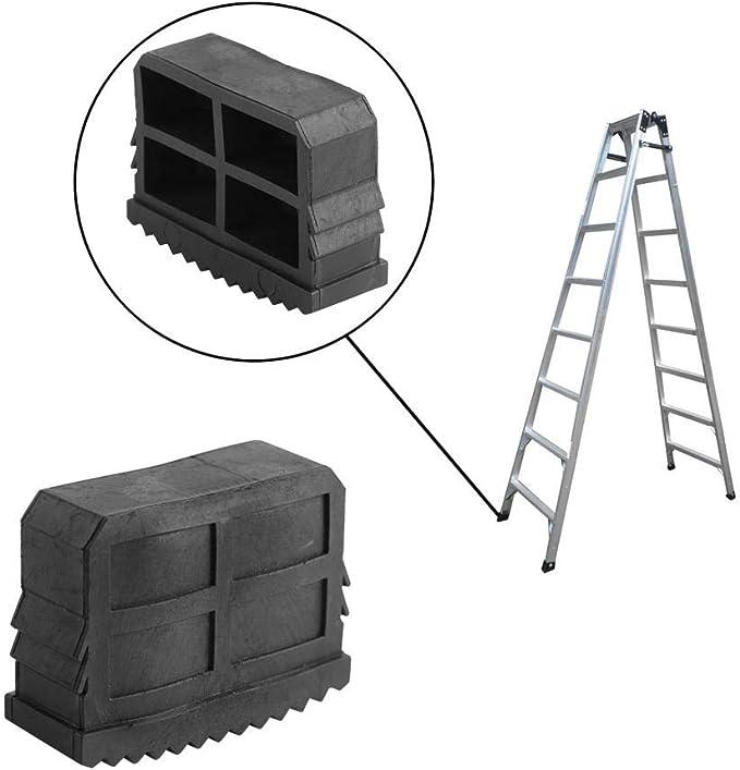VIFERR Patas de la Escalera, la Sustitución 2Pcs / Par de Goma del Resbalón no con la Cubierta del Casquillo para Patas de la Escalera Escaleras de Mano y Rectangulares: Amazon.es: Hogar