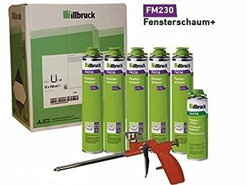 Profesional Vajilla (5 x illbruck fm230 Ventana Espuma Incluye Pistola limpiador aa290 y pistola de espuma estándar: Amazon.es: Bricolaje y herramientas