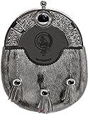 Beveridge Dress Sporran 3 Tassels Studded Targe Celtic Arch Scottish Clan Name Crest