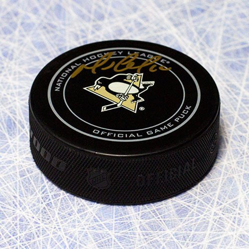 Mario Lemieux Autographed Pittsburgh Penguins Official Game Puck - Signed Hockey Pucks ()