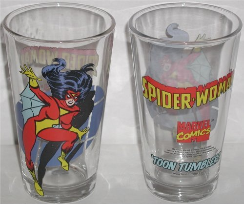 Spider Woman Toon Tumbler 16 Oz. Pint Glass
