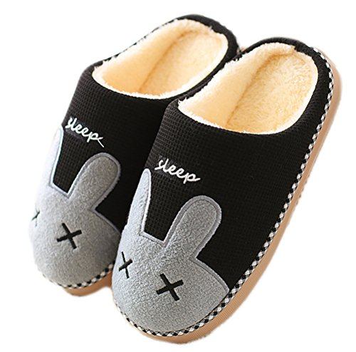In On Pantofole Beginning Shoes Cotone Stampato Slip Salotto Donna Uomo Caldo Animalier Indoor Da Nero Auspicious Unisex XBwqgxPx