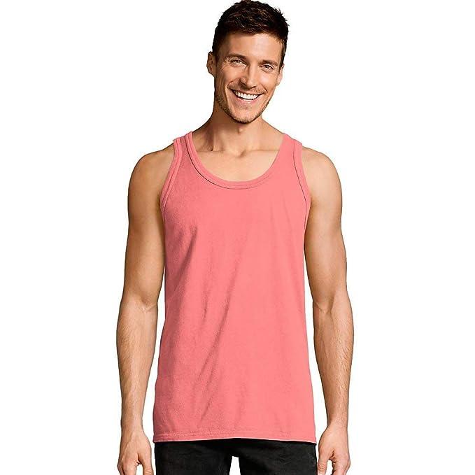 6ca3a362009250 Hanes Men s ComfortWash Garment Dyed Sleeveless Tank Top at Amazon Men s  Clothing store