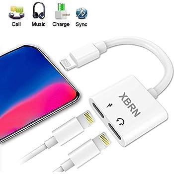 xbrn lightning adapter splitter 2 in 1 lightning headphone jack aux audio charger. Black Bedroom Furniture Sets. Home Design Ideas