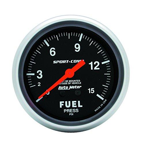 - Auto Meter 3411 Sport-Comp Mechanical Fuel Pressure Gauge