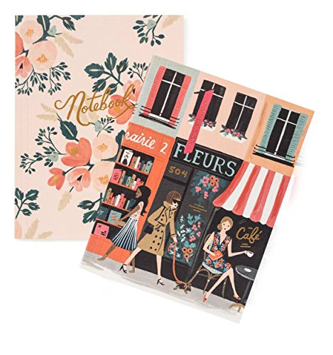 Rifle Paper Crown Parisian Notebooks by Rifle Paper Co. -- Set of 2