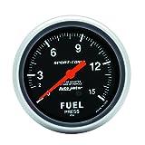 """Auto Meter 3411 2-5/8"""" 0-15 PSI Mechanical Fuel Pressure Gauge"""