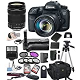 Canon EOS 7D Mark II Digital SLR Camera w/ EF-S 18-135mm STM Bundle includes Camera, Lenses, Filters, Bag, Memory Cards, Remote, Power Grip, Tripod ,and More - International Version